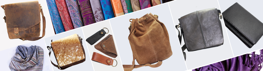 Leather Bags and Shawls