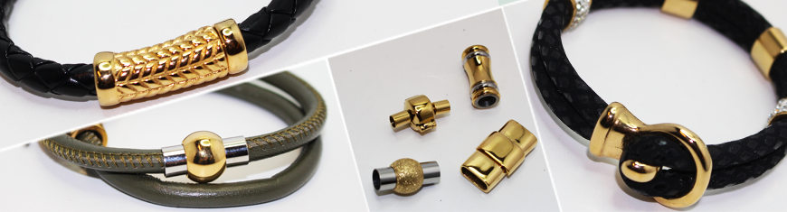 Locks for Flat leather -- All sizes -- gold plated