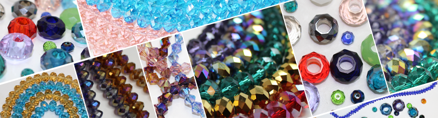 Faceted Glass Cubes - 4mm