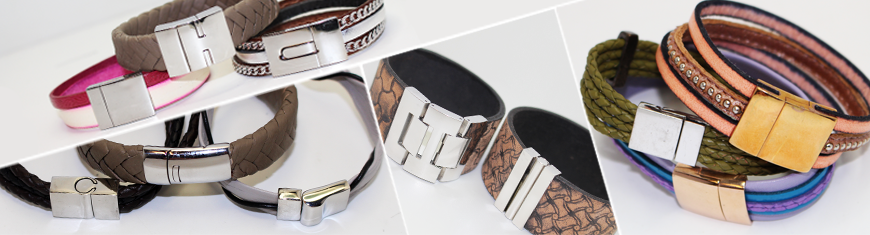 Stainless Steel Magnetic Locks and Clasps for Leather and Cords