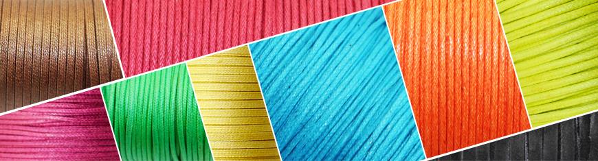 Round Wax Cotton Cords - 1mm