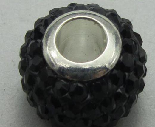 Big Hole Beads with Crystals