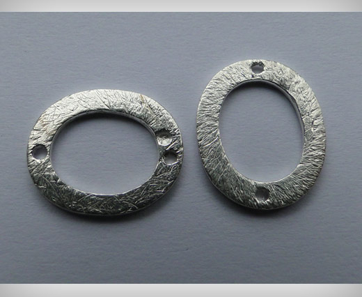 Brushed Silver Rings