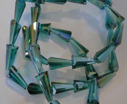 Crown Shape Faceted Glass Beads