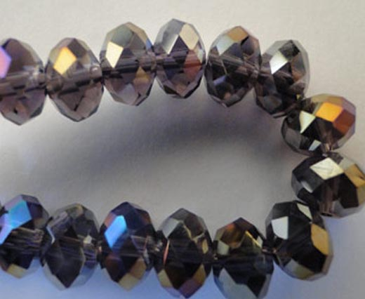 Crystal round faceted  - 10mm