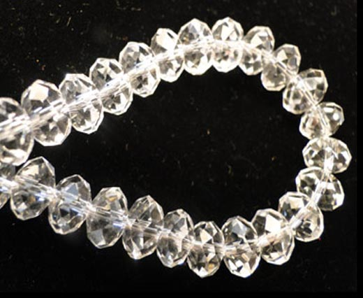 Crystal round faceted - 8mm