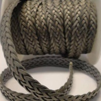 Flat Braided Leather Cords - Style 2 - 12 mm