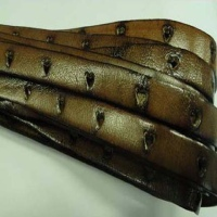 Flat Leather Laces with Shaped Holes