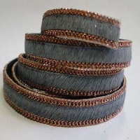 Hair-On Leather with Chains - 10 mm
