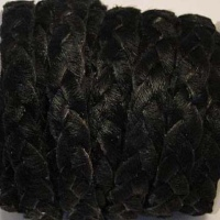 Hair - On Leather - Flat Braided Laces - 10 mm