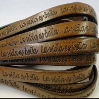 Leather With Names Embossed in Multiple Languages