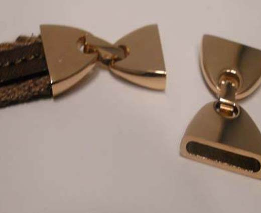 Lock for flat leather - Size 5mm to 15mm (Rose Gold)