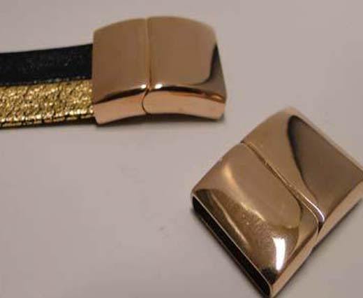 Locks for Flat leather - 16mm to 40mm (Rose Gold)