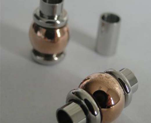 Locks for Round Leather - Rose Gold: Size 2mm till 5mm