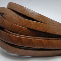 Real Italian Leather - Flat Laces with Geometrical Pattern