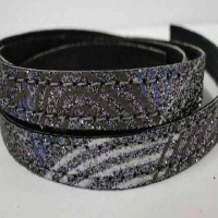 Real Nappa Leather - Flat Laces with Glitter - 5 mm
