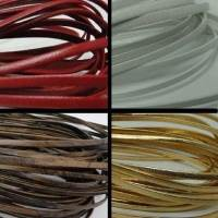 Real Nappa Leather Flat Laces - 3 mm