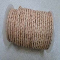 Real Nappa Round Braided Leather Cords