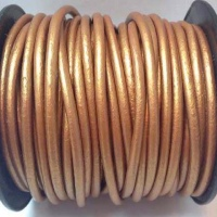 Round Leather Cords- 4mm - Metallic Shades