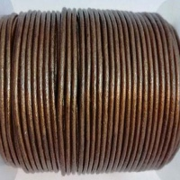 Round Leather Cords - 2mm - Metallic Shades