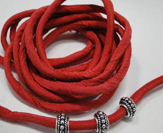 Silk cords with cotton filling - 4mm