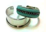 Zamac and Copper Frames for Bangles with Leather - 10mm