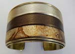Zamac and Copper Frames for Bangles with Leather - 30mm