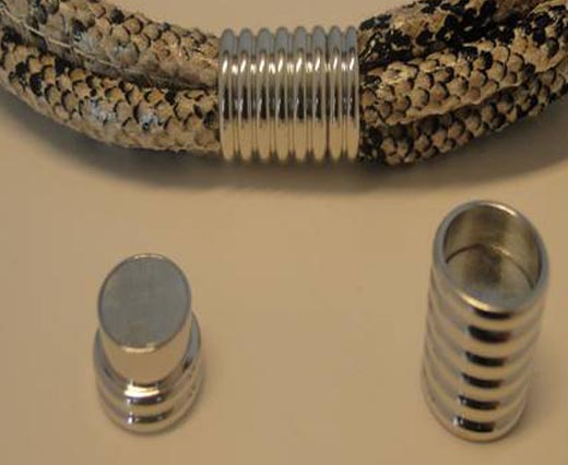 Zamac and Copper Magnetic Locks and Clasps for Leather and Cords