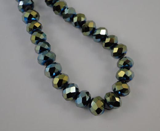 Crystal round faceted - 12mm