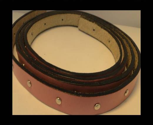 Leather with stud -10mm- Maroon