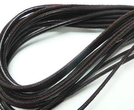 Round leather cord Stitch 3mm Violet