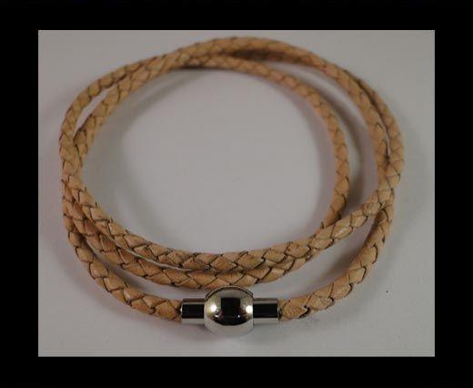 Three wrap leather bracelets SE-DB-Violet-3mm