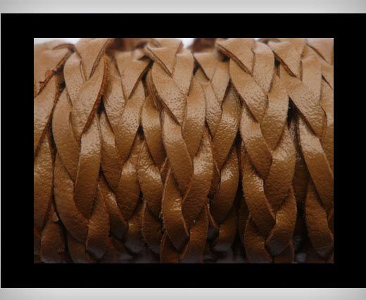 15mm-Flat Braided-Brown