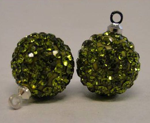 Shamballa-Crystal-Hanger-10mm-Olive