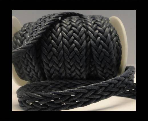 Eco-Flat Braided Cords-Special Style-16mm-Navy Blue