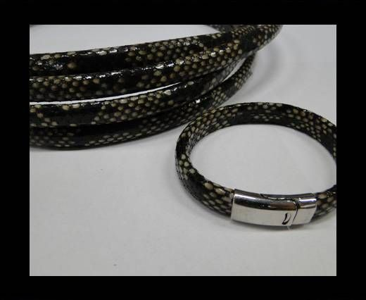 Real Regaliz-Leather-Snake Style 2-10mm*6mm-White