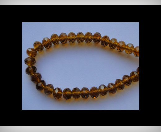Faceted Glass Beads-8mm-Mokka