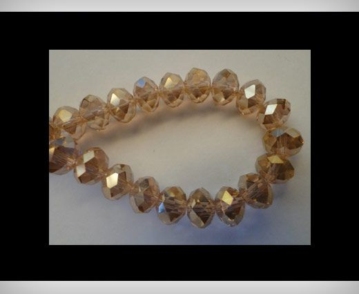 Faceted Glass Beads-12mm-Rose-AB