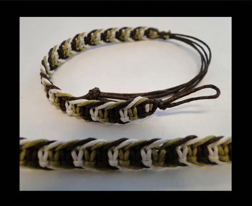Fancy Cord Bracelet -FJ03-GWB