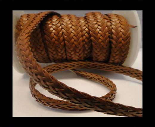 Flat Braided Cords-Style-2-12mm- Brown