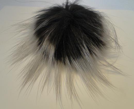 Finn Raccoon Pom Pom-Dark Grey-14cms