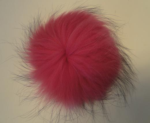 Finn Raccoon Pom Pom-Pink-14cms
