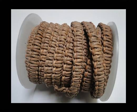 Flat Braided Cords-10MM- Stair Case Style-Natural