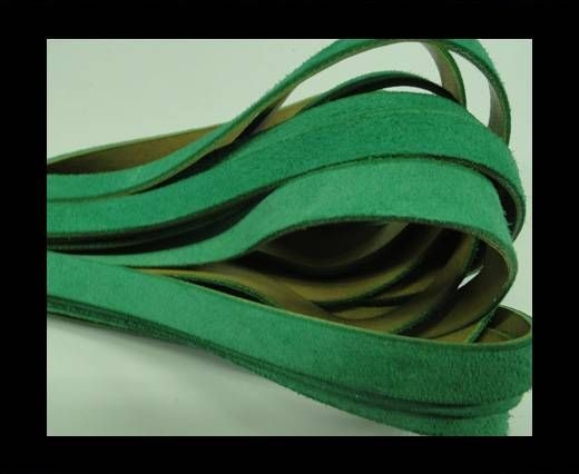 Flat Leather Cord Suede -10mm-Green