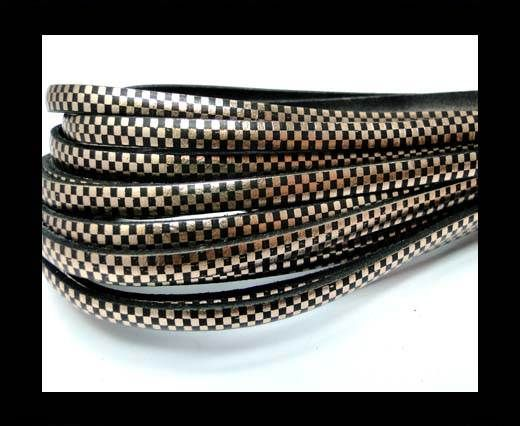 Flat Leather Cords - Chess Style - 5mm-Cipria