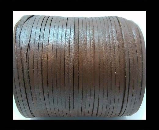 Flat Leather Cords - Cow -width 4mm-27404 - Light Brown