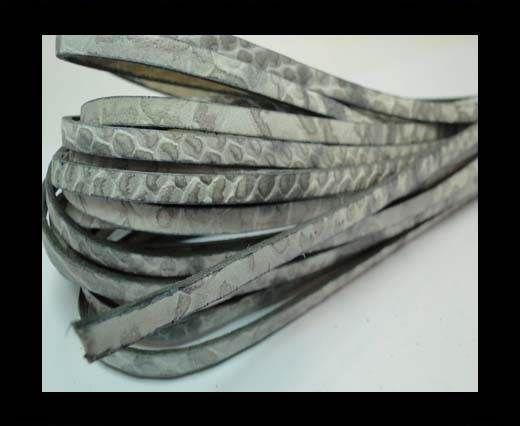 Flat Nappa Leather Snake Style 5MM - grey