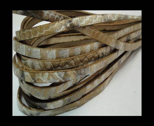 Flat Nappa Leather Snake Style 5MM - natural
