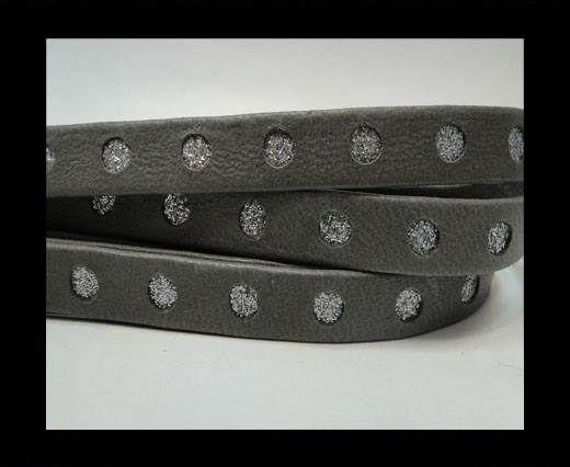 Flat Nappa with Glitter-silver-10MM