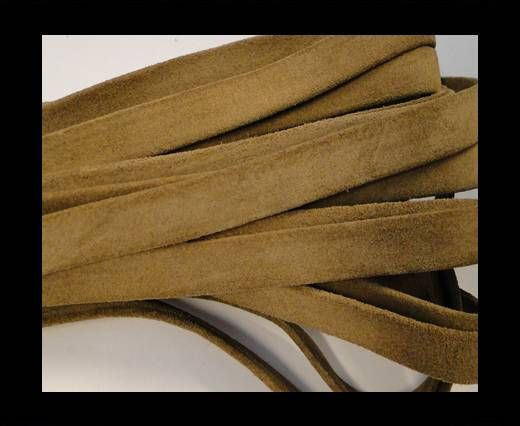 Flat Suede Leather-10mm-Medium Brown